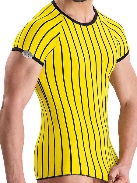 Eros Veneziani Diego: T-Shirt, gelb/schwarz
