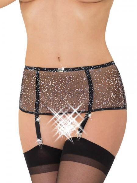 Eros Veneziani Annabella: Strapsgürtel (breit) und Strümpfe, schwarz