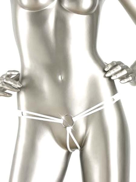Eros Veneziani Cynthia: Ouvert-String, weiß