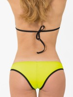 Eros Veneziani Elettra: Bikini mit Slip, neongelb/schwarz