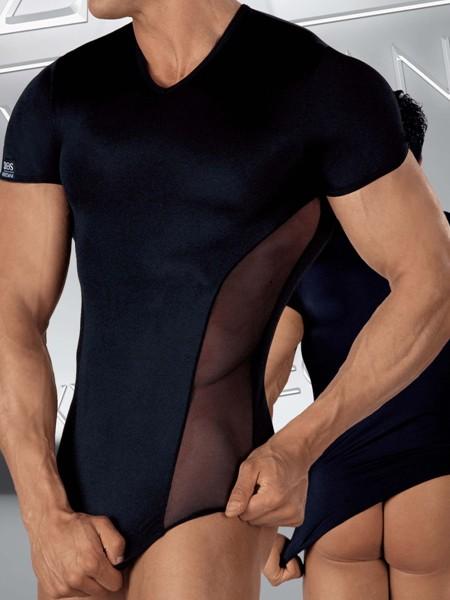 Eros Veneziani Luigi: Shirt, schwarz