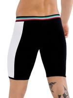 Eros Veneziani H24 BiColor: Push-Up Boxerpant, schwarz/weiß