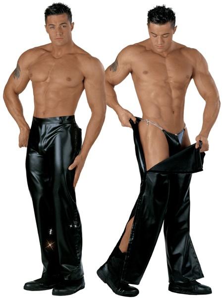 Eros Veneziani: Kunstleder-Stripperhose, schwarz