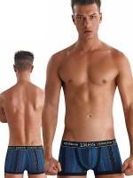 Eros Veneziani Francesco: Pant, blau/schwarz