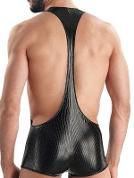 Eros Veneziani Nicolo: Wetlook-Body, schwarz